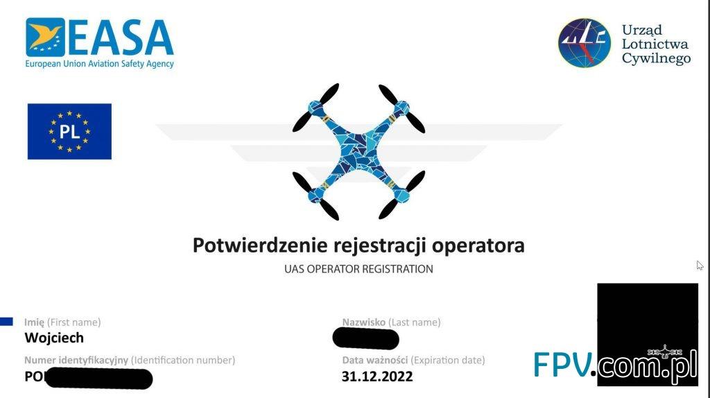 Potwierdzenie rejestracji operatora